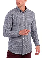 BLUE COAST YACHTING Camisa Hombre (Azul Oscuro / Blanco)