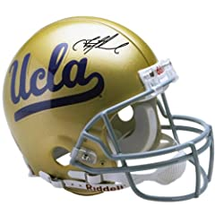 Troy Aikman UCLA Bruins Autographed Riddell Pro-Line Authentic Helmet - Mounted...