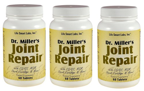 3 Dr. Miller's Joint Repair Joint Pain Relief, 180 Pills, High Potency: Includes Glucosamine, MSM, Chondroitin, Shark Cartilage, and more 3 Months, Doctor Miller's Joint repair