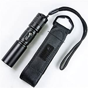 UltraFire C3 Cree 1-Mode 1 x AA / 1 x 14500 Flashlight Torch with Holster Case Cover