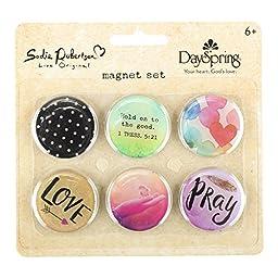 DaySpring Sadie Robertson\'s Magnet Set - Live Original, 6 Count (77457)