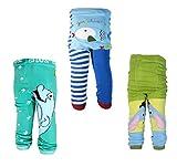 [backbuy] 3pantalones infantil niños de bebé 0-24meses Leggings pantalones punto pantalones m8m11V2 Talla:0-12 Months