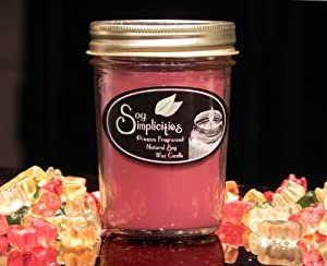 Tutti Frutti 8 Oz Jelly Jar - Premium Fragranced Natural Soy Wax Candle By Soy Simplicities