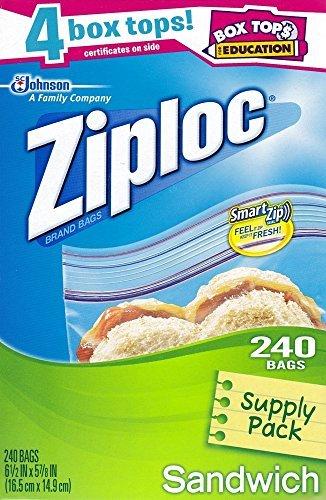ziploc-smart-zip-sandwich-bags-supply-pack-240-bags-by-sc-johnson