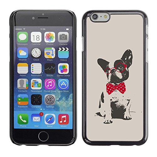Smartphone Protective Case Hard Shell Cover for Cellphone Apple Iphone 6 Plus 5.5 / CECELL Phone case / / Boston terrier pug polka dot red grey /