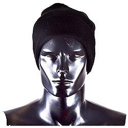 Woolen Skull Cap - Black