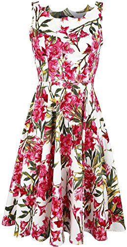 hr-london-50s-pink-maureen-floral-swing-dress-vestido-multicolores-l