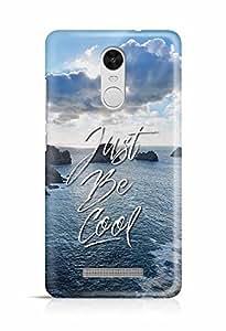 YuBingo Just Be Cool Designer Mobile Case Back Cover for Xiaomi Redmi Note 3