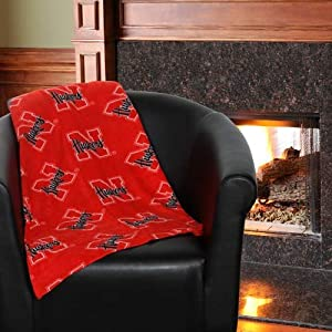 NCAA Grandma Pants Nebraska Cornhuskers 60'' x 86'' Scarlet Oversized Fleece Blanket