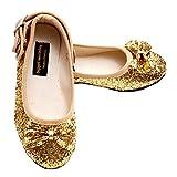 Puppet Workshop Toddler Little Girls Gold Glitter Bow Shoes Girl 7-2