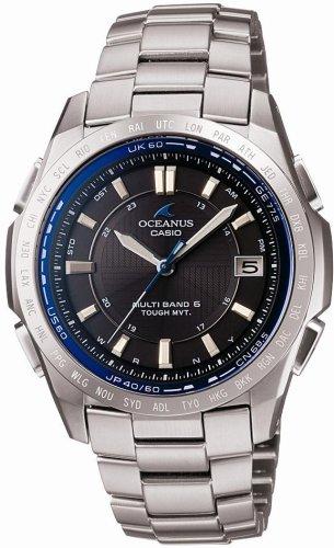 CASIO (カシオ) 腕時計 OCEANUS オシアナス Classic Line クラシックライン タフソーラー 電波時計 TOUGH MVT MULTIBAND6 OCW-T100TD-1AJF メンズ