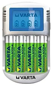 Varta - 57670101451 - Chargeur LCD Plug + 4 Accus AA 2100 R2U