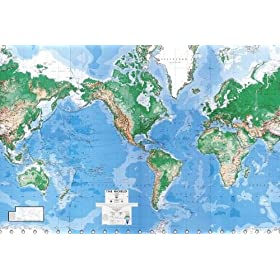Environmental graphics giant world map wall mural for Dry erase world map wall mural