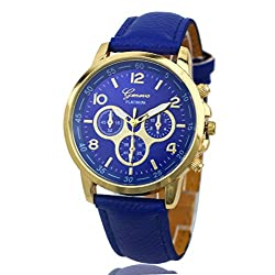 Geneva Platinum Analog Blue Dial Womens Watch - GP-203