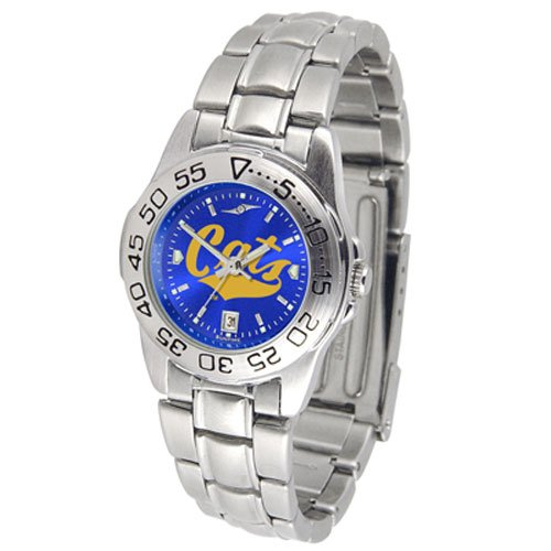 Suntime Montana State Bobcats Ncaa Anochrome Sport Ladies Watch Metal Band