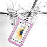 iPhone7/iPhone6s 防水ケース ESR スマホ防水ケース 防水カバー 防水保護等級IPX8取得 水深30m防水テスト 安全ロック100%密封 内蔵ポケット付属 iphoneSE/5s/iPhone6s Plus/iPhone6s/Samsung Galaxyなど6センチ以下全機種対応 iphone6/6s携帯防水ポーチ ピンク