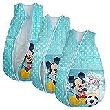 Saco de dormir Mickey Mouse Baby-Saco de dormir Saco de dormir infantil para las cuatro estaciones azul turquesa Talla:92/98