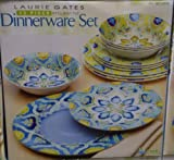 Laurie Gates 12 Piece Melamine Dinnerware Dinner Set