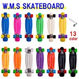 《W.M.S SKATEBOARD》 ステレオビニール ミニクルーザータイプ コンプリートスケートボード 専用ウィ―ルレンチおまけ付き