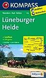 Lüneburger Heide: Wanderkarte mit Kurzführer, Radrouten und Reitwegen. GPS-genau. 1:50000