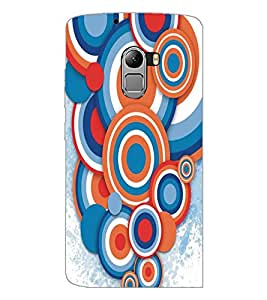 PrintDhaba Circular Pattern D-5293 Back Case Cover for LENOVO K4 NOTE A7010a48 (Multi-Coloured)