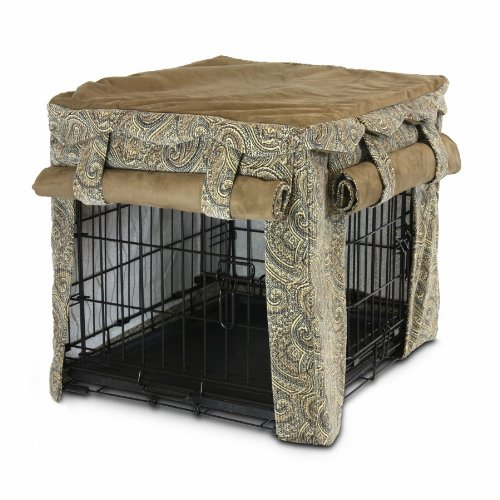 Snoozer Cabana Pet Crate Cover, 54 By 37 By 45-Inch, 3X-Large, Sicilly/Coffee