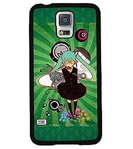 PRINTVISA Doll GREEN Land Premium Metallic Insert Back Case Cover for Samsung Galaxy S5 - G900I - D5751