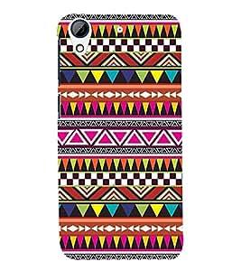 Printvisa Premium Back Cover Ethnic Multicoloured Pattern Design For HTC Desire 626::HTC Desire 626G Plus::HTC Desire 626G+