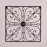 "Wrought Iron 15"" x 15"" Square Wall Decor Grille"