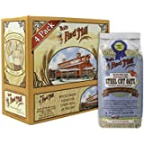 Bob's Red Mill Steel Cut Oats Oatmeal Cereal, 24-Ounce (Pack of 4)