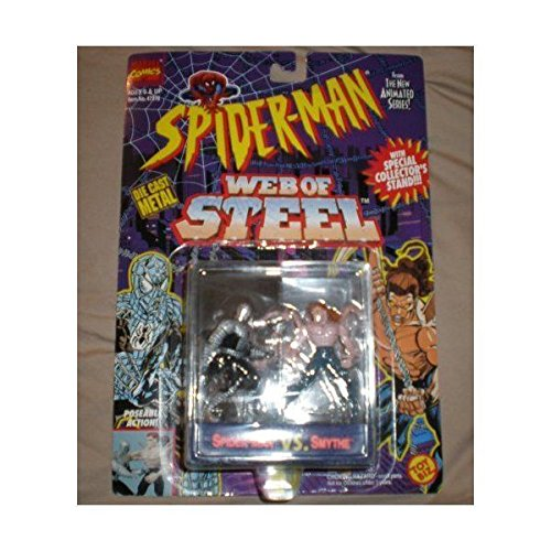 Spiderman The New Animated Series: Web of Steel Spider-Man Vs Smythe Die Cast Metal Figures