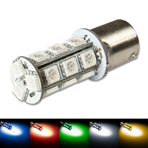 1156 Ba15S 18-Smd 360-Degree Blue Led Light Bulb