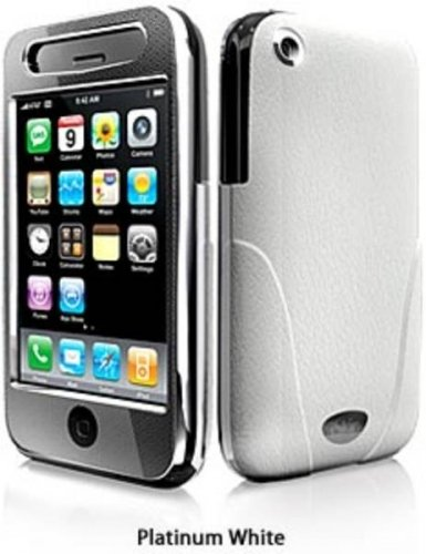 iSkin ENIGMA-WE Enigma iPhone 3G/GS Leather Case (Platinum White)