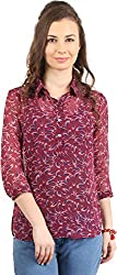 Amadeo Women's 3/4 th Sleeve Shirt (KRISHA16, Purple, Small)