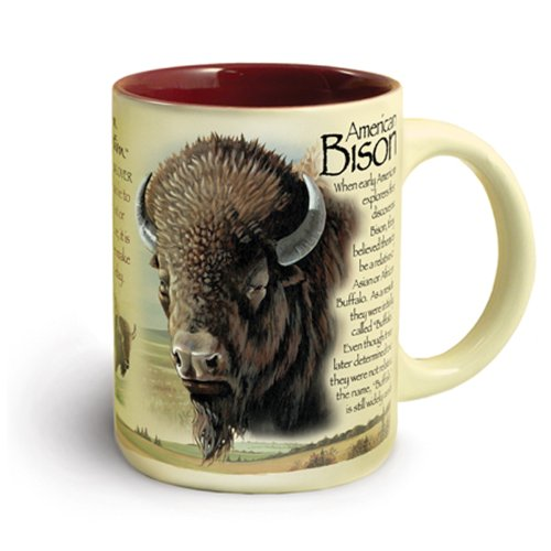 Animal Mugs - American Bison, 16-oz Ceramic Mug