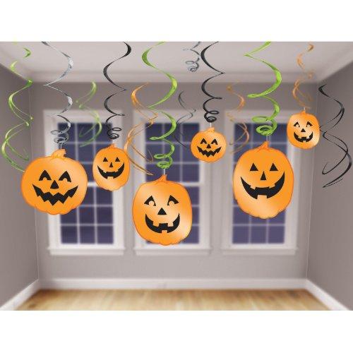 Halloween Pumpkin Hanging Swirls ハロウィンのカボチャ吊るすまんじ♪ハロウィン♪サイズ: