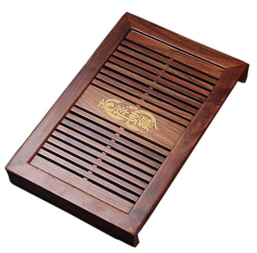 "Cheap 16.9""x11""x2.2"" Chinese Gongfu Tea Rosewood Kungfu Tea Tray (14)"