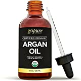Organic Argan Oil - 4 fl oz - 100% Pure & Certified Organic Argan Oil For Hair, Skin and Nails - Cold Pressed - Triple Purified