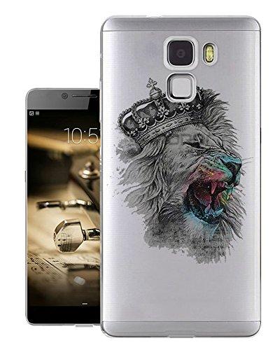 c0306 - Cool Fun Crown Lion Design Huawei Mate S Fashion Trend Gel Rubber Silicone Case Caso / Cover copertura posteriore