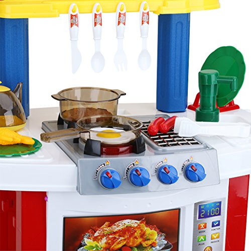 Excelvan childrens electronic kitchen role kids pretend for Electronic kitchen set