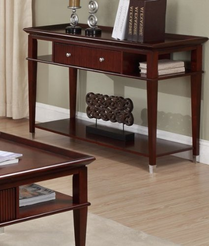 Cheap Console Sofa Table with Drawer and Shelves in Espresso Finish (VF_F6131)