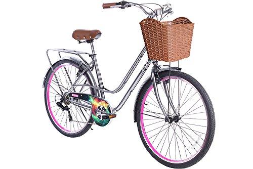 Gama Bikes Women's City Avenue Step-Thru 6 Speed Shimano Hybrid Urban Cruiser Commuter Road Bicycle, 26-inch wheels 1