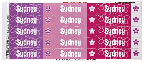 Mabel'S Labels 40845195 Peel And Stick Personalized Labels With The Name Sydney And Flower Icon, 45-Count front-540584