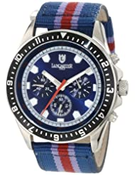 Lancaster  Men's OLA0483SSBL-VL-RS  Chronograph Blue Dial Blue and Red Striped Fabric Watch