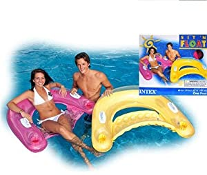 Sit 'N Float Inflatable Floating Lounge By Intex (12 Pieces)