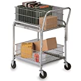 "Mail Cart - 25X17"" Baskets - 4"" Casters"