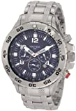 Nautica Men's Metal N19509G Silver Stainless-Steel Quartz Watch with Blue Dial
