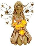 Moonrays 91332 Solar Power Highlighted Fairy with Sunflowers