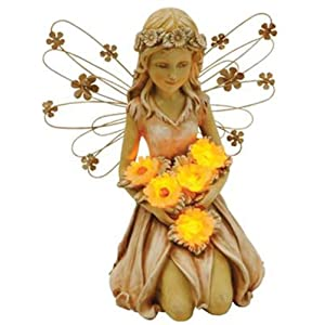 Click to buy LED Outdoor Lighting: Moonrays Solar Power Highlighted Fairy with Sunflowers from Amazon!