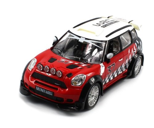 Licensed Bmw Mini Cooper Wrc R60 Electric Rc Car Rally 1:18 Rtr (Colors May Vary) Authentic Body Styling